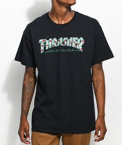 Thrasher-Roses-Black-T-Shirt-_283902-front-US